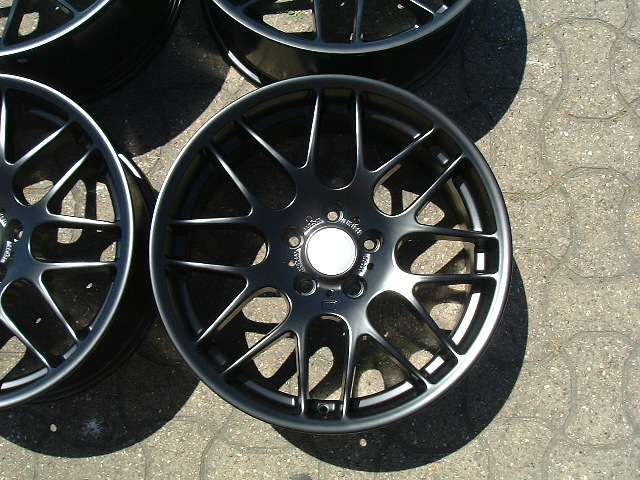 "NEW 19"" ATOMIC CSL ALLOY WHEELS IN MATT BLACK, WITH VERY DEEP CONCAVE 9.5"" ET45**RARE FITMENT**"